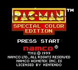 Pac-Man: Special Color Edition Game Boy Color Title screen