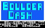Boulder Dash Amstrad CPC Select game options