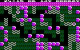 Boulder Dash Amstrad CPC This level features lots of boulders and diamonds to dodge