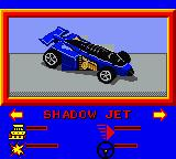 Hot Wheels: Stunt Track Driver Game Boy Color Selecting a Hot Wheels series car.