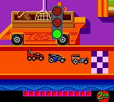Hot Wheels: Stunt Track Driver Game Boy Color The starting grid - racing will begin... now!
