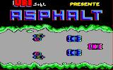Asphalt Amstrad CPC The title screen