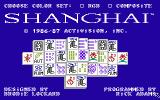 Shanghai TRS-80 CoCo Title screen