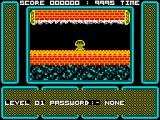 One Man and His Droid ZX Spectrum Game start