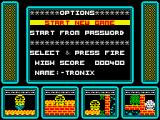 One Man and His Droid ZX Spectrum Main menu