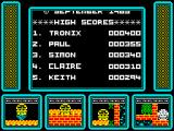 One Man and His Droid ZX Spectrum High scores