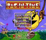Pac-in-Time SNES Title screen / Main menu.