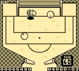 Kirby's Pinball Land Game Boy The football bonus game.
