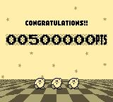 Kirby's Pinball Land Game Boy Reach certain score levels and some Kirbies dance.