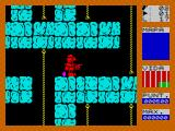 Fred ZX Spectrum Contact causes loss of energy and is depicted by Fred turning red