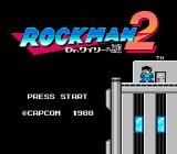 Mega Man 2 NES Japanese title screen