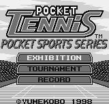 Pocket Tennis Neo Geo Pocket Main menu.