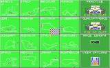 Nigel Mansell's Grand Prix Atari ST Course selection and other options