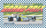 Nigel Mansell's Grand Prix Atari ST Loading screen