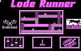 Lode Runner Amstrad CPC The main menu