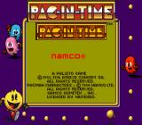Pac-in-Time Game Boy Title screen (in Super Game Boy).