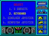 720º ZX Spectrum Main menu