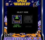 Space Invaders Game Boy Selecting the game mode (Super Game Boy)