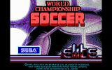 World Championship Soccer DOS Title Screen