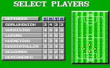 World Championship Soccer DOS Setup the players for each position