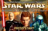 Star Wars: Episode II - Attack of the Clones Game Boy Advance Title screen.