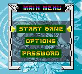 Saban's Power Rangers: Time Force Game Boy Color Menu screen.