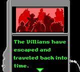 Saban's Power Rangers: Time Force Game Boy Color Introduction frame – Some bad guys will do a big trouble into time!