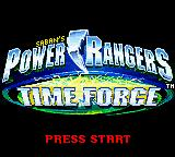 Saban's Power Rangers: Time Force Game Boy Color Title screen.