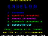 Cavelon ZX Spectrum Main menu