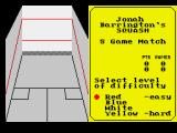 Jonah Barrington's Squash ZX Spectrum Difficulty levels