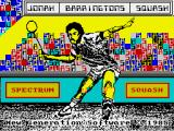 Jonah Barrington's Squash ZX Spectrum Nice drawing of Jonah for the loading screen