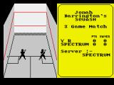 Jonah Barrington's Squash ZX Spectrum Game start