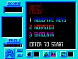 Bosconian '87 ZX Spectrum Control selection