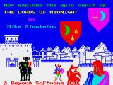 The Lords of Midnight ZX Spectrum Loading screen
