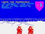The Lords of Midnight ZX Spectrum Everything is illustrated on screen, with 8 directional view