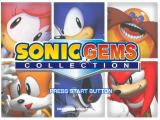 Sonic Gems Collection GameCube Title Screen