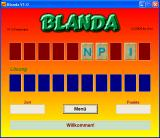 Blanda Windows Title screen - the first row is actually flashing