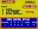 Tapper ZX Spectrum Main menu