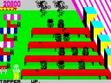 Tapper ZX Spectrum Fast bartender is awarded with a duo of dancing girls.