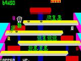 Tapper ZX Spectrum A cup just hit the wall and one life is lost