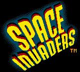 Space Invaders Game Boy Color Title screen.