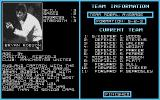 England Championship Special Atari ST Team composition screen with player attributes and information.