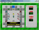 Chip's Challenge Windows 3.x Starting the game