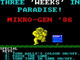 Three Weeks in Paradise ZX Spectrum Notice the colour-clash-prevention mode