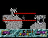 Ghouls 'N Ghosts Amiga Standing on a gargoyle's tongue