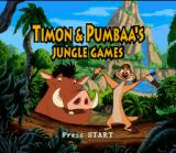Disney's Timon & Pumbaa's Jungle Games SNES Title screen.