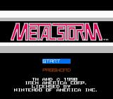 Metal Storm NES Title screen