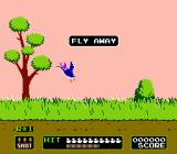 Duck Hunt NES Ducks flying away in a 1-duck game.