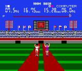Stadium Events NES Player 2 wins 100m.