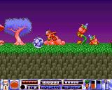 Quik the Thunder Rabbit Amiga Destroy enemies by rolling into them